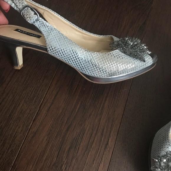 4ca2df87f2e Alex Marie Shoes - Alex Marie silver sparkly pumps